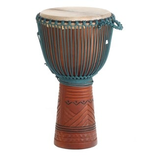 X8 Drums Ramadan Professional Carved Djembe Drum (Indonesia)