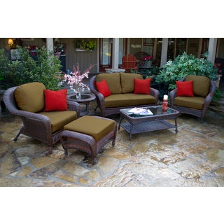 Richmond Sunbrella Cocoa Cushion 6-piece Loveseat Seating Set