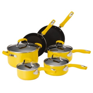 Guy Fieri Yellow Nonstick Aluminum 10-piece Cookware Set