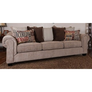 Christopher Knight Home Devore Oversized Beige Fabric Sofa with Loose Fitted Back