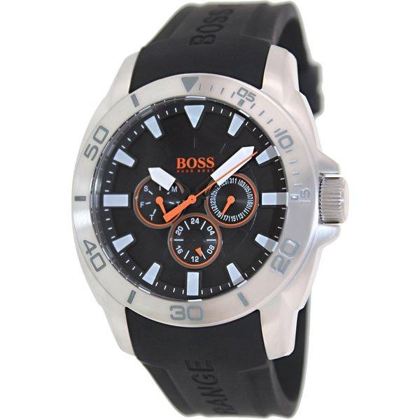 Hugo Boss Men's 1512950 Black Silicone Strap Analog Quartz Watch
