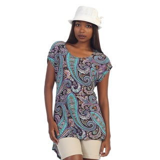 Hadari Women's Paisley High-low Tunic