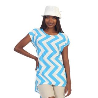Hadari Women's Chevron Print High-low Tunic