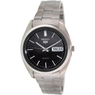 Seiko Men's SNX115K Stainless Steel Black Dial Automatic Watch