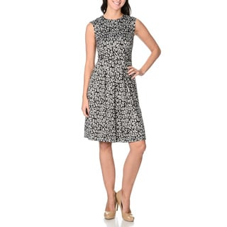 London Times Women's Animal Print A-line Dress