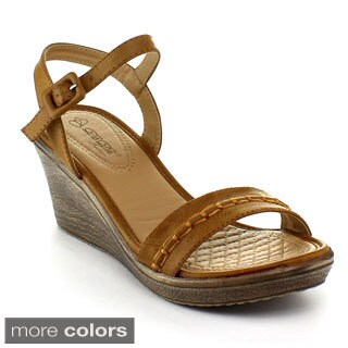 DbDk Women's 'Kambo-1' Ankle Strap Wedge Sandal