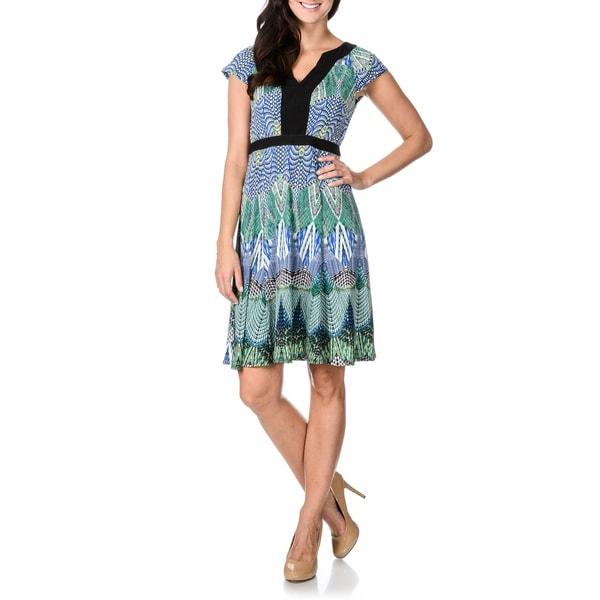 Rabbit Rabbit Rabbit Designs Women's Fit-n-Flare A-line Abstract Print Dress