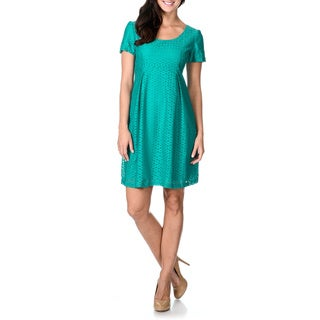 Rabbit Rabbit Rabbit Designs Women's Jade Circle Lace Pleated Dress