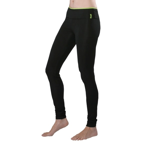 Yoga City Women's 'Chicago' Black Leggings