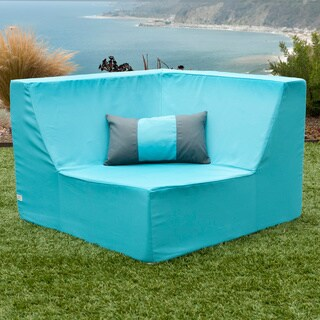 Softblock LowBoy Aruba Blue Outdoor Corner Chair