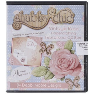Debbi Moore Shabby Chic Papercrafting CD ROM-Vintage Rose