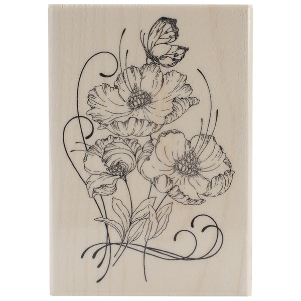 Penny Black Mounted Rubber Stamp 3inX4.25in-Red Tango
