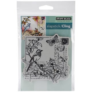 Penny Black Cling Rubber Stamp 5inX7.5in Sheet-Garden Letter