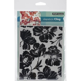 Penny Black Cling Rubber Stamp 5inX7.5in Sheet-Poppy Pattern