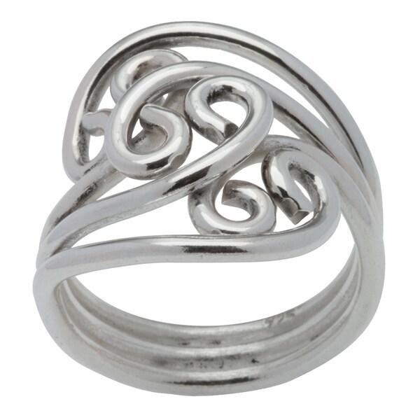 Kele & Co. Sterling Silver Swirl Ring