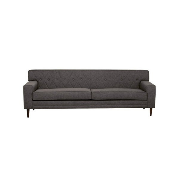 inncdesign Nicolette grey Mid-century Quilted Sofa