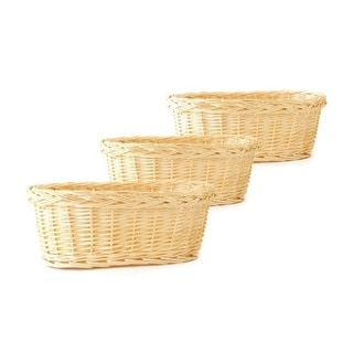 Natural Willow Woven Planter Basket (Set of 3)