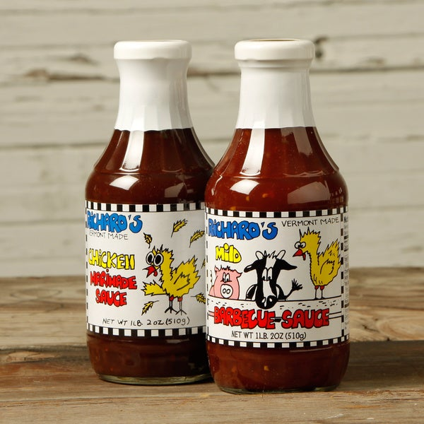 VT Made Richard's Chicken Marinade and BBQ Sauce (Set of 2)