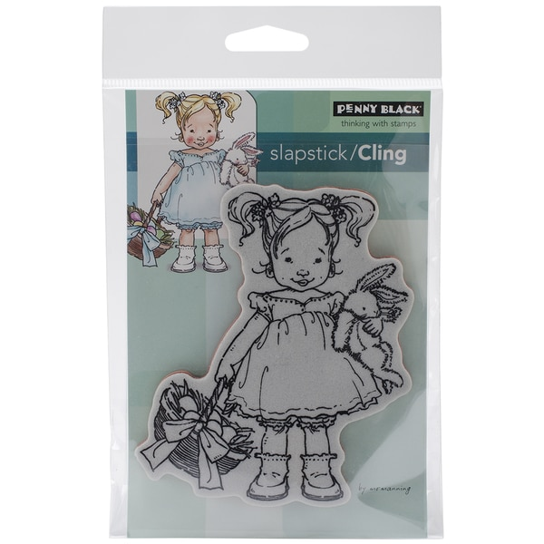 Penny Black Cling Rubber Stamp 4inX6in Sheet-Me & My Bunny