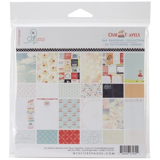 Webster's Pages Paper Pad 6inX6in 24/Pkg-Our Travels
