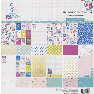 Webster's Pages Paper Pad 12inX12in 24/Pkg-Sweet Routine