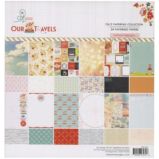 Webster's Pages Paper Pad 12inX12in 24/Pkg-Our Travels