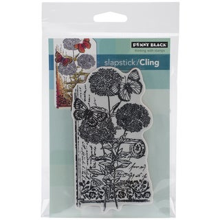 Penny Black Cling Rubber Stamp 4inX5.25in Sheet -Scripted Blooms