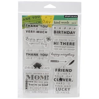 Penny Black Clear Stamps 5inX7.5in Sheet-Kind Words