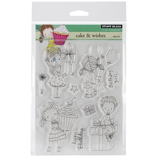 Penny Black Clear Stamps 5inX7.5in Sheet-Cake & Wishes