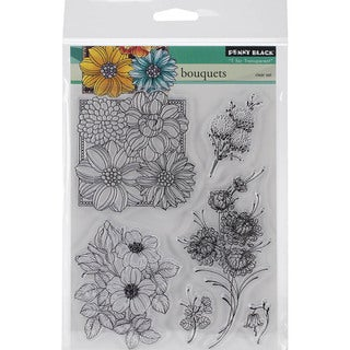 Penny Black Clear Stamps 5inX7.5in Sheet-Bouquets