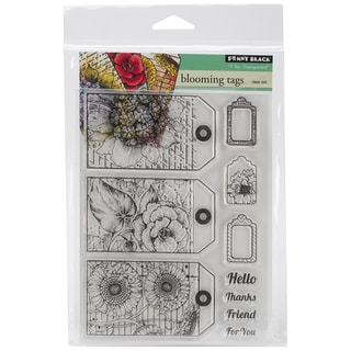 Penny Black Clear Stamps 5inX7.5in Sheet-Blooming Tags