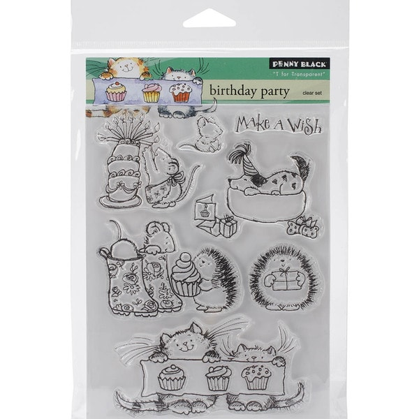 Penny Black Clear Stamps 5inX7.5in Sheet-Birthday Party