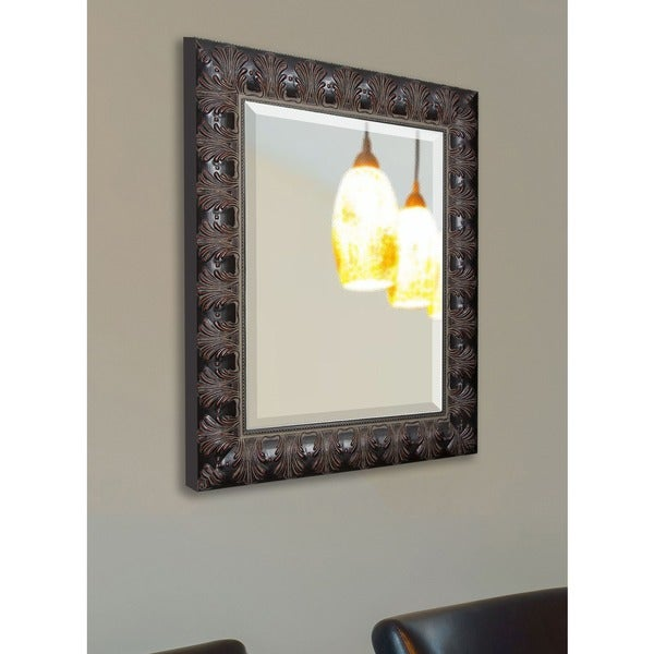 American Made Rayne Dark Feathered Vanity Wall Mirror 13358454