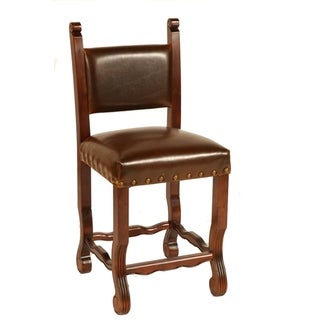 Leather Chestnut Spanish Counter Stool