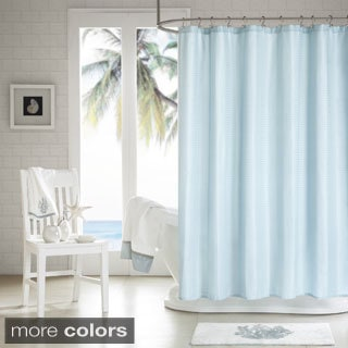 H2Ology Waffle Weave Shower Curtain with 3M Scotchgard Finish