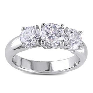 Miadora 14k White Gold 2ct TDW Diamond Ring (G-H, I1-I2)