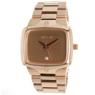 Nixon Men's Rose Goldtone Stainless Steel Player Watch
