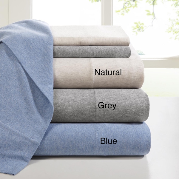 Ink+Ivy Brand Heathered Cotton Jersey Knit Sheet Set (As Is Item)