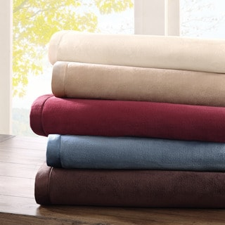 Madison Park Micro Velour Plush Blanket