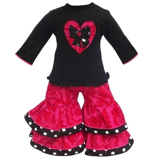 AnnLoren Blossom Heart with Bow Doll Outfit