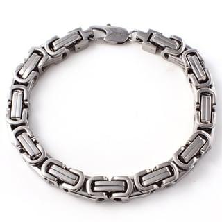 Men's Stainless Steel Byzantine Link Bracelet
