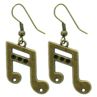 Kate Marie Musical Note Dangle Earrings