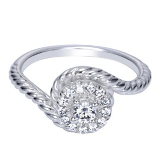 14K White Gold 1/4ct TDW Diamond Twist Ring