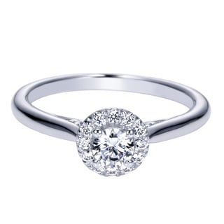 14k White Gold Halo Diamond 1/3ct TDW Ring (H-I, I1-I2)