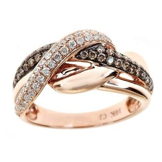 D'yach 10k Rose Gold 3/4ct TDW Brown Diamond Ring (G-H, I1-I2)
