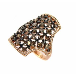 Kabella Luxe 14k Rose Gold 2 1/6ct TDW Diamond Statement Ring (I-J, I1-I2)