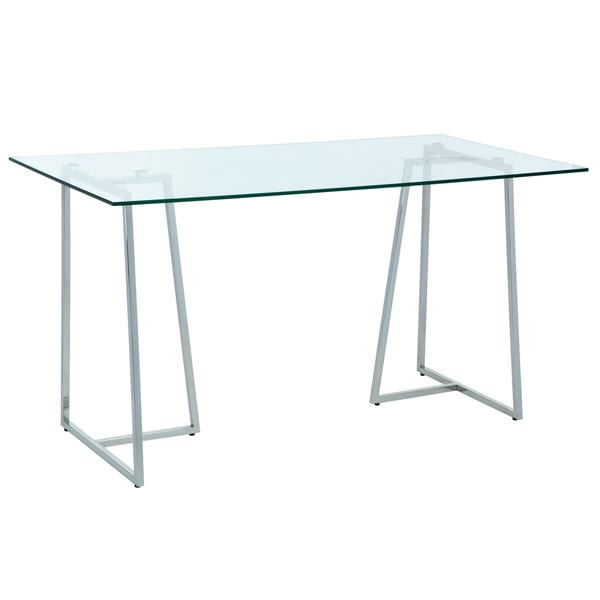 Sunpan Chiswick Stainless Steel Writing Desk