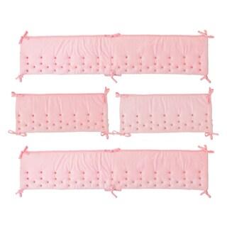 Nurture Imagination Pink Velour Airflow Bumper