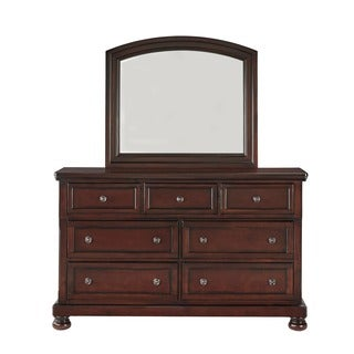 Elliot Distressed Warm Brown Dresser and Mirror