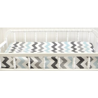 My Baby Sam Chevron Aqua Changing Pad Cover